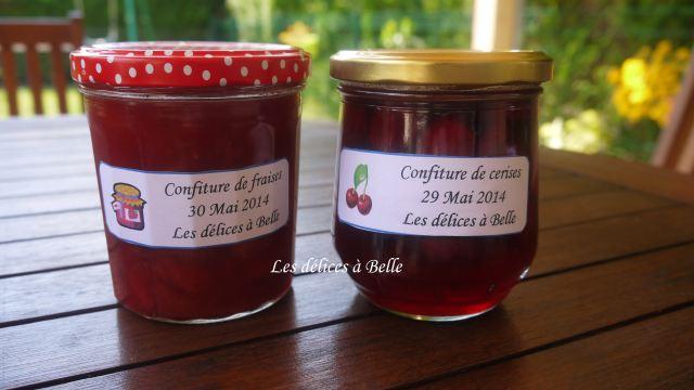 Confiture de fraises & confiture de cerises