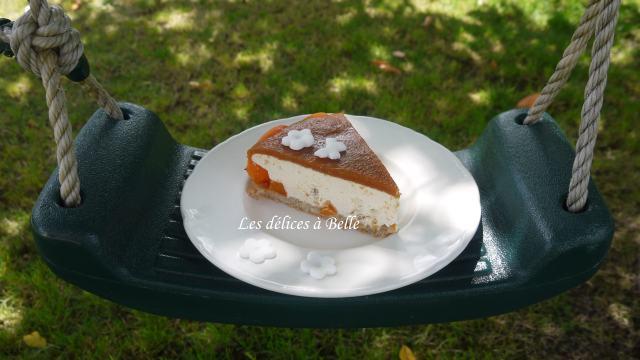 Entremets à l'abricot & au nougat