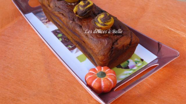 Cake marbré d'Halloween