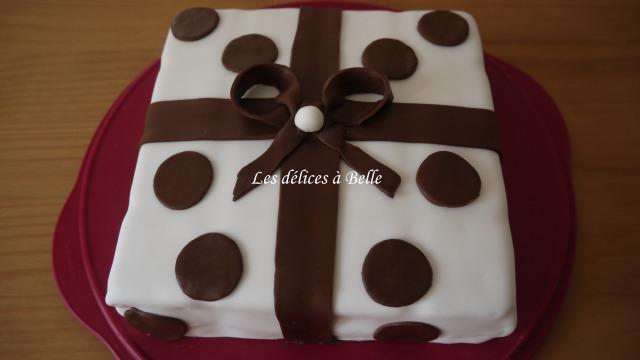 Rêve de chocolat en pâte à sucre