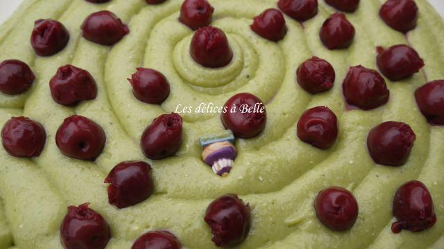 Galette des rois pistache-griottes