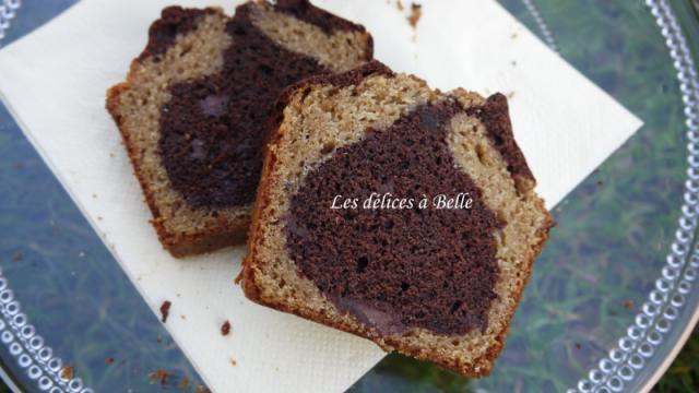 Cake marbré chocolat-spéculoos