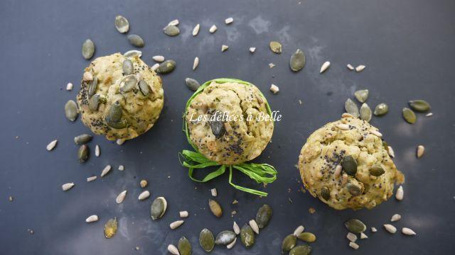 Muffins aux petits pois & aux graines