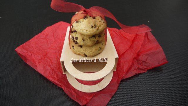 Cookies aux pépites de chocolat fourrés au Nutella