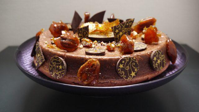 Délice au chocolat & noix de pécan caramélisées