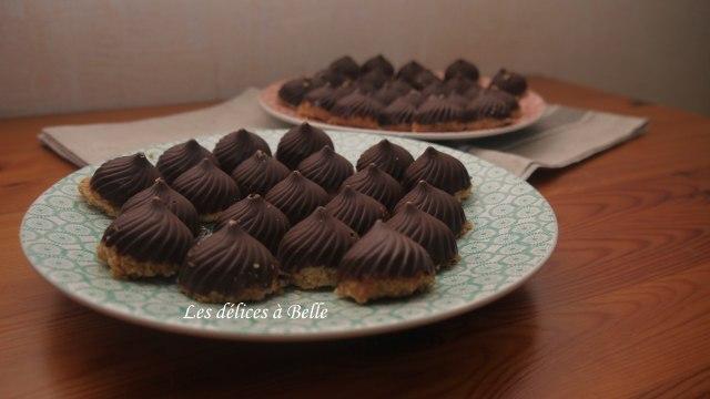 Tourbillons de bouchées sablées chocolatées