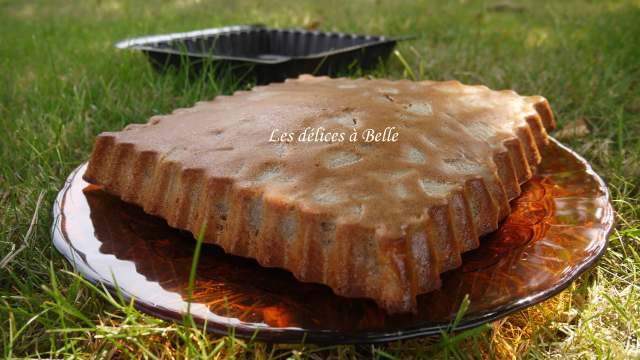 Gâteau à la farine de châtaignes & aux poires