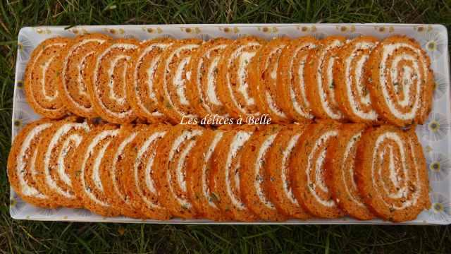 Roulé tomate-Boursin