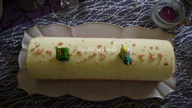 Bûche aux biscuits rosess de Reims