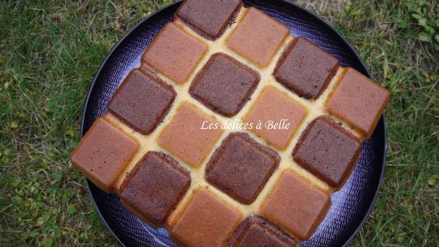 Gâteau au yaourt façon damier