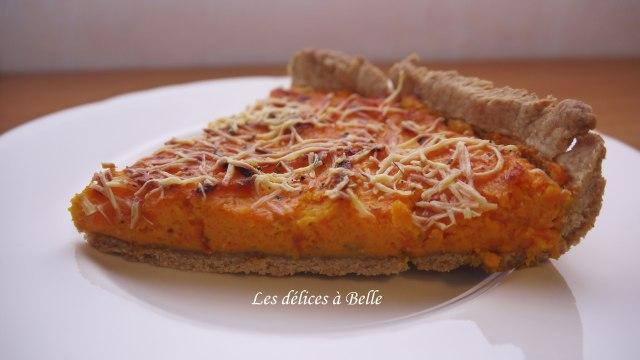 Tarte salée aux carottes & piment doux