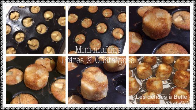 Mini-muffins poires & châtaigne