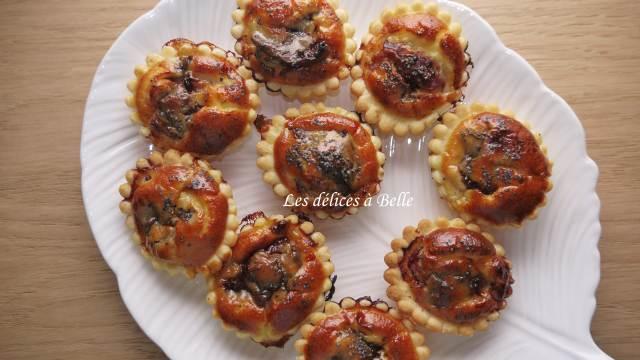 Mini-tartelettes au magret de canard & confit de figues