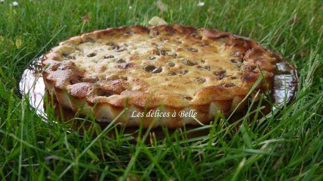 Clafoutis aux prunes & lait d'amande