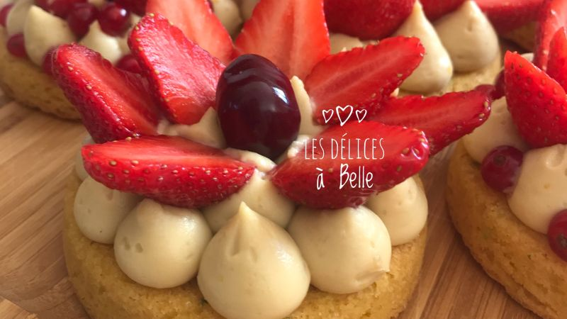 Tartelettes folles aux fraises