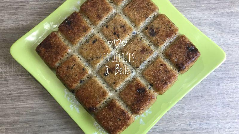 Gâteau aux flocons d'avoine et fruits secs