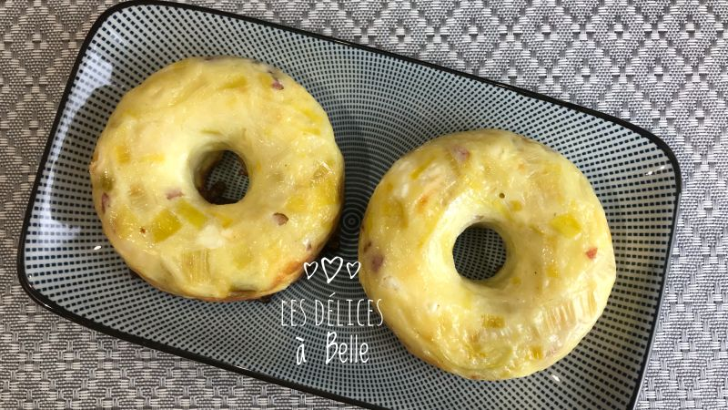 Donuts aux poireaux et lardons