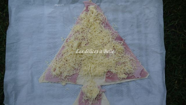 Mon sapin de Noël feuilleté jambon-fromage