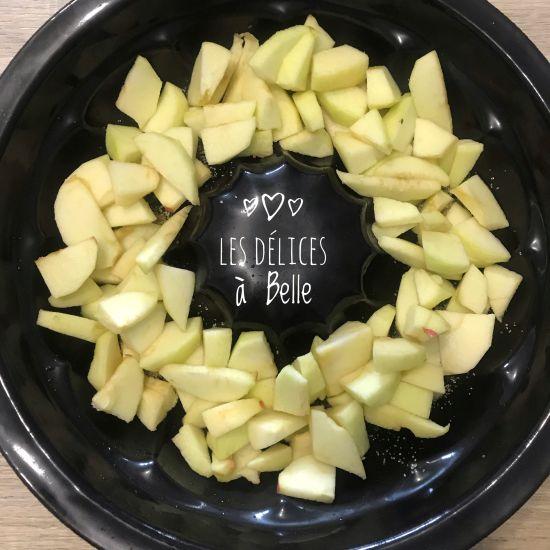 Gâteau aux pommes renversé